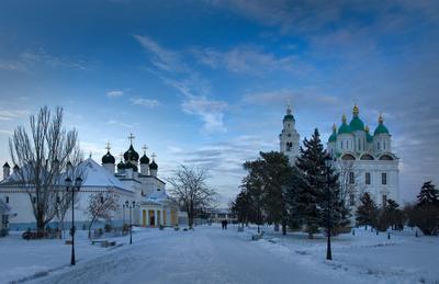 Всех с Рождеством! Астраханский кремль .зима снет