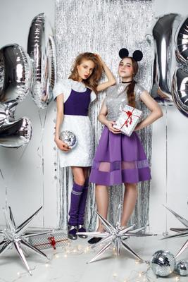 fashion new year новый год праздники серебро фиолетовый девушка подарки fashion стиль 2018