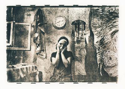 Ван Гог на кухне Мунка Lith-print