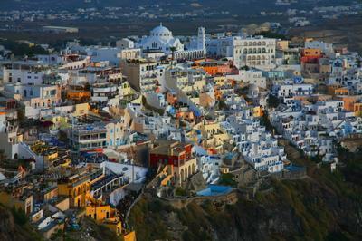 Фира-город у моря Греческие мотивы.Фира.Санторини