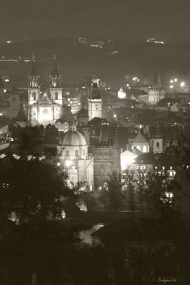 Пражская ночь Старый город, ночь, огни