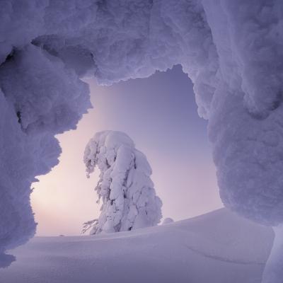 Снежные врата урал северныйурал гух рассвет зима снег