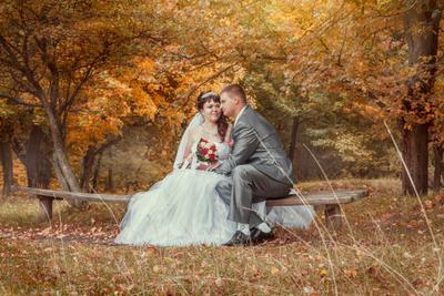 тёплая осенняя свадьба теплая осень жених невеста