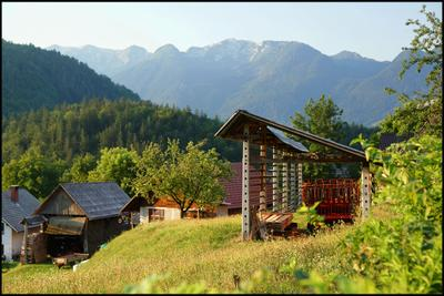 *** Словения Бохин горы Ерека деревня