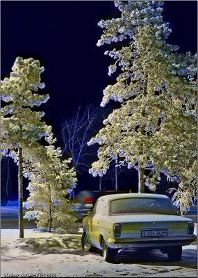 - 43. Студёная полночь... Зима мороз ночь город одиночество холод