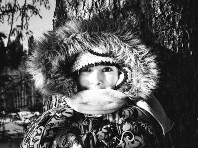 Данилка Портрет мальчик зима деревня