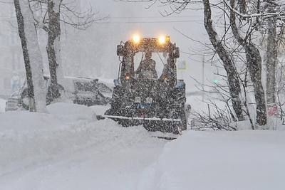 Циклон Циклон снег метель Сахалин декабрь зима