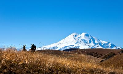 Эль+3 горы лошади Кавказ