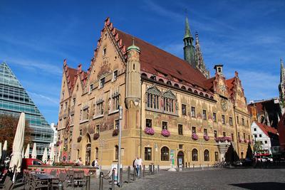 Ulmer Rathaus Германия Deutschland Баден-Вюртемберг Baden-Württemberg Ульм Ulm