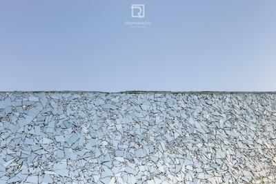 When the celestial sphere breaks - Когда рушится небесная сфера узор стекло небо зеркало сломанный стена материал серый цвет настил абстракция Архитектура Синь конструкция индустрия белый бетон текстура Дюнкерк Франция горизонт