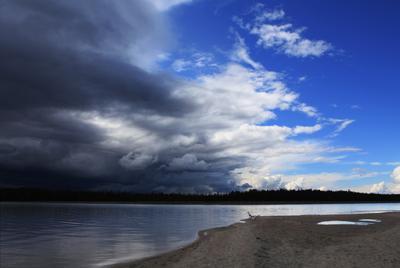 Надвигалась гроза Карелия, гроза, дождевые облака