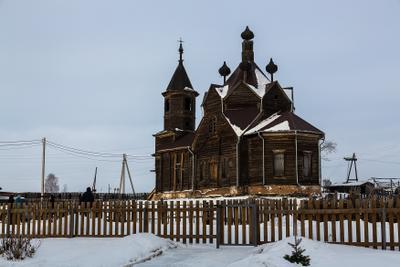 Церковь Параскевы Пятницы Церковь Барабановов Красноярский край Рождество 2020 январь г