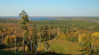 """Осенние дали Осень горно-лыжный курорт """"Красное озеро"""" лесные дали"""
