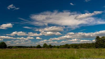 Безмятежное лето лето облака