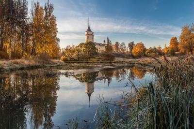 когда солнце встало... павловск мариенталь парк осень рассвет россия славянка бип