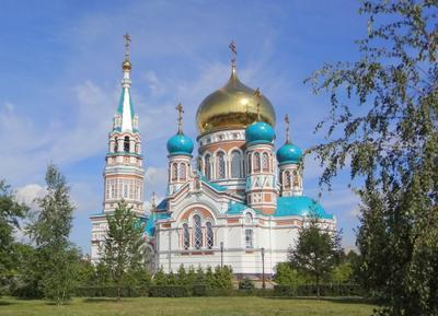 Успенский Кафедральный собор, г.Омск город собор Омск