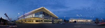 Аэропорт Красноярск III город Красноярск Сибирь универсиада аэропорт огни прогулка