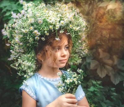 Мечты портрет девочка цветы