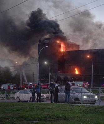 Пожар - и шоу и работа_3 Новосибирск пожар 2020