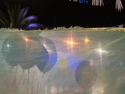 День Независимости в Израиле Кфар-Саба Воздушные шары ночь