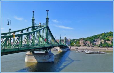 Дунайская весна Венгрия Будапешт Budapest Дунай Danube Duna теплоход мост