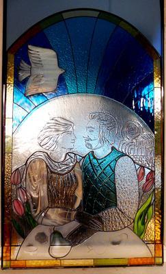 Витраж витраж свадьба юбилей родители свет увет стекло