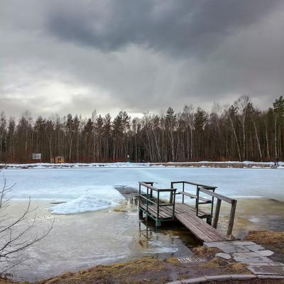 На горизонте обещанный дождь... Москва Лосиный остров пруд Лось