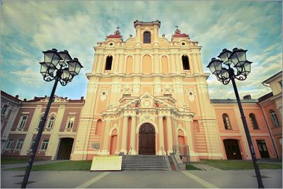 Church church old town Vilnius architecture