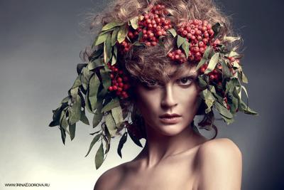 Осень и осенняя Маргарита осень портрет рябина