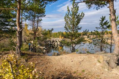 *** пейзаж природа карьер осень