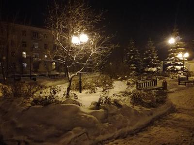 *** Night УлицаФонарь Зима Волшебство Спокойнаяночь