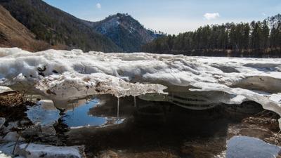 В ожидании ледохода река Мана