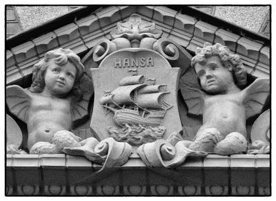 из серии: барельефы выборга барельеф, герб, Выборг, кирпич