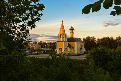 На закате... город суздаль церковь храм вечер закат август
