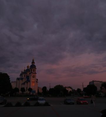 *** Пейзаж церковь небо дорога