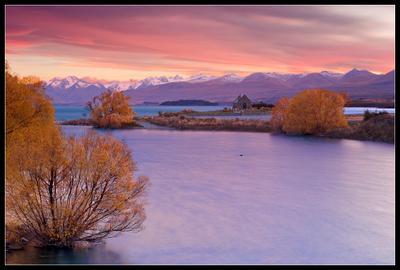 The Church of the Good Shepherd  New Zealand, lake Tekapo