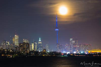 Big moon over Big city