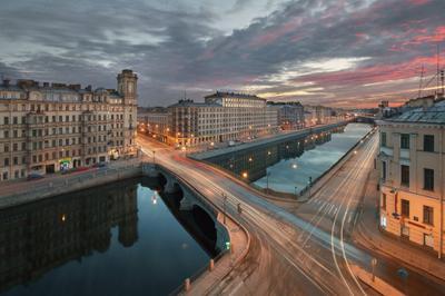 про рассвет над Фонтанкой... санкт петербург петроград ленинград фонтанка река рассвет весна