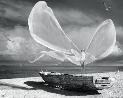 поймать ветер to catch a wind StanOd