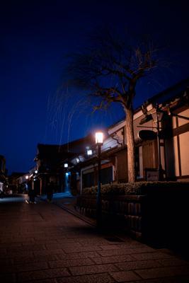 Улочка в Киото Осака Киото замок крепость