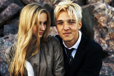 *** Парк300летия СанктПетербург залив любовь пара блондин блондинка