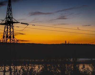 Яченское водохранилище в закате