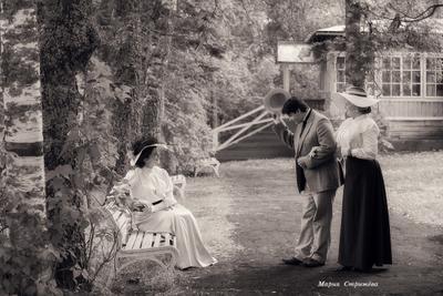 Чеховские дачники винтаж ретро Чехов фотоистория