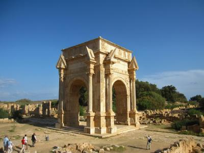 Арка императора Септимия Севера, Лептис-Магна, Ливия. Ливия вулкан кратер горы скалы пустыня