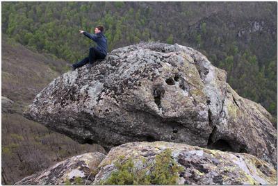 Погонщик боевых Единорогов! Кавказ, горы, девушка, Индюк, скала, останец, единорог, погонщик