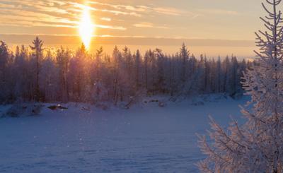 Чтобы стало сказочно, надо было дождаться холода ... Крайний Север Новый Уренгой Ноябрь Сказка