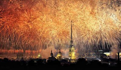Золотые россыпи Санкт-Петербург Петропавловский собор фейерверк праздник Алые паруса