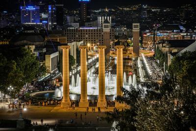 Барселона Barcelona Барселона España Испа ния Catalunya Cataluña Катало Волшебный_фонта н_Монжуика Font_màgica_de_Montjuïc Fuente_mágica_de_Montjuic