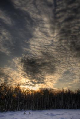 Карельскперешейский закат пейзаж, закат, небо