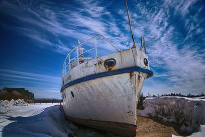 Байкальский прибой Байкал, корабль, небо, весна, снег